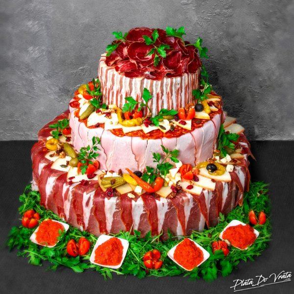 Ruža - mala slana torta - 2920g